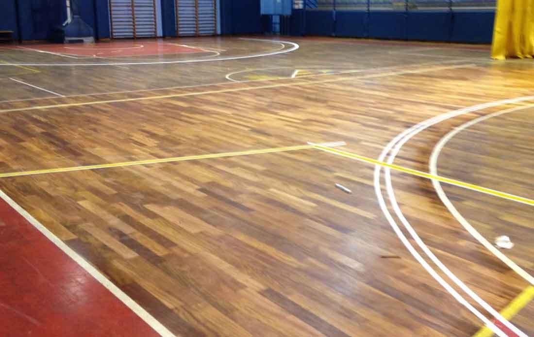 Rehabilitación pavimento deportivo.